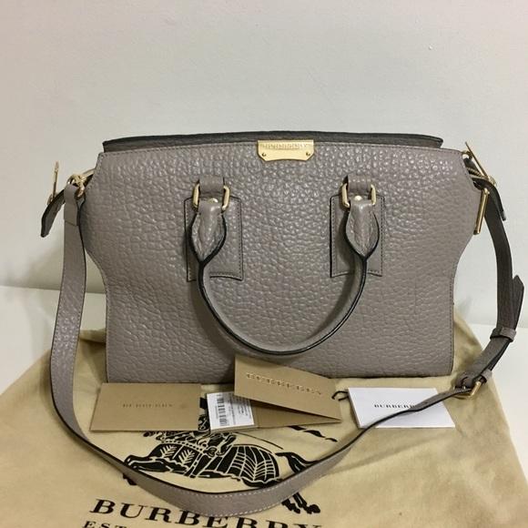 Burberry Handbags - Authentic BURBERRY grey leather Gainsborough tote b49fc1c02b597